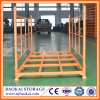 Support de empilement en acier pliant moyen employé couramment pour le stockage d'entrepôt