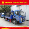 5t Lage Flatbed Vrachtwagen van de 6wheelers4X2 de Lichte Plicht Cdw