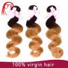 Trama de envio rápida do cabelo de Malaysia Ombre do Virgin dos produtos de cabelo de Feibin