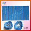 Écharpe magique faite sur commande avec le fond bleu (HYS-AF053)
