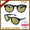 Óculos de sol redondos do vintage preto o mais atrasado do frame F7597