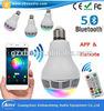 Bulbo del RGB LED con el mini altavoz de Bluetooth controlado por el APP y el telecontrol