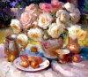 Pintura a óleo impressionista da flor - 03
