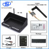 600MW Mini Transmitter Ts5828 +RC708 7inch LCD Monitor Diversity Receiver Wireless Radio TransmitterおよびReceiver