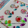 Flor Shape Acrylic Rhinestone Diamond Sticker para Cell Phone