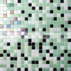 15X15mm grüne Mischungs-heiße Schmelzglasswimmingpool-Mosaik-Fliese (BGC037)