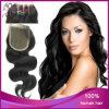 Fechamento brasileiro do laço da onda do corpo do cabelo do Virgin