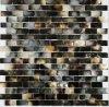 Azulejo de mosaico nacarado del mar de Blacklip del patrón del ladrillo, mosaico de Shell