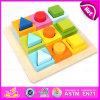 2015 Nuevo juguete de madera de formas geométricas, juguete educativo rompecabezas de forma geométrica, juguete de madera bloque geométrico conjunto W13e059