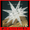 Motivo Light do diodo emissor de luz Star do diodo emissor de luz Holiday Decoration Light 3D do Natal