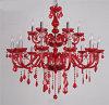 Rote Farben-Kerze beleuchtet moderne Luxuxkristallleuchter-Leuchte