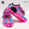Camouflage Flyknits를 가진 LED Sneaker Sports Shoes
