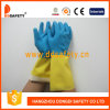 Перчатки Латексные Синие и Жёлтые Хозяйственные с CE (DHL214)
