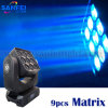 최신 Sale Stage Wash LED 9PCS Moving Head Matrix Light