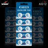 Batterie alkaline AG12 de montre de cellules de bouton de cellules