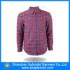 Großhandels-Kleidungs-Baumwollplaid-Hemd-Dame-Büro-Arbeits-Abnützung-Entwürfe