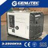 tipo silencioso eléctrico diesel del dínamo 5kVA del generador 5kw de 50Hz 220V