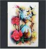 Etiqueta engomada temporal impermeable del tatuaje de Rose del reloj de arena