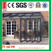 Porte en verre isolante de Bifolding avec le bâti en aluminium