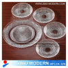 Atacado Fashion Clear Glass Plates 5PC