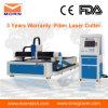 Gran hoja de acero de calidad láser de fibra Máquina de corte con Niza funcionamiento