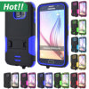 para Samsung Galaxy S6 Shockproof Kickstand Hybrid Cover Hard Back Cover