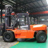 Material Handling Equipment 10 Ton 8 Meters Lifting Height Diesel Forklift Cpcd100 mit Clamp