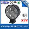 36W impermeabilizan la lámpara de la luz del trabajo del punto del CREE LED