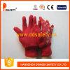 Красные перчатки сада хлопка. Задняя часть бабочки печатание (DGB211)