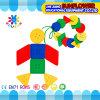 Baustein-Spielwaren-intellektuelle Spielwaren, bunter Plastikschreibtisch blocken Spielzeug
