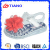 Sandalia al aire libre de la jalea del PVC de la nueva muchacha del diseño con la flor (TNK50022-1)