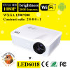 WiFi 3D Projector du support 1080P 3000 Lumens Android