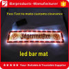 Natte de barre de LED, natte de barre de PVC LED, natte de bière de guide optique de LED
