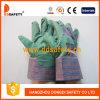 Зеленые перчатки PVC с задней частью Dgp104 нашивки