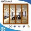 Puerta de plegamiento japonesa de cristal grande confeccionada todas las clases de fábrica de las puertas interiores