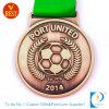 Medalla de sellado de cobre de encargo al por mayor del fútbol 3D de la buena calidad de China para el acceso unido