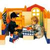 Brinquedo alegre dos blocos de apartamentos das crianças grande