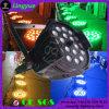DMXの段階18X18W LEDの洗浄RGBWA紫外線6in1ズームレンズの同価64