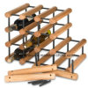 Rack de vinho de madeira totalmente montado Pote de aço galvanizado 40 garrafas