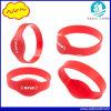 Wristband del silicón RFID de 13.56MHz Mfare 1k S50