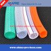 Boyau flexible tressé de l'eau de jardin de PVC de force de fibre