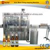 Automático de cerveza pequeña maquinaria de llenado tapado