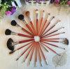 Brosses faites sur commande professionnelles de maquillage de logo de Kabuki de nouveau produit, brosses de produit de beauté de qualité