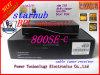 Caixa superior ajustada do receptor do cabo do SE do Dm 800 HD da caixa superior ajustada de Singapore Starhub com Bpl instalados auto chave do relógio do rolo do software