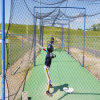 Jungfrau-HDPE geknotetes Baseball-Netz 100% für Schlagen-Rahmen