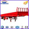 1axle de Semi Aanhangwagen van de lading met Zijgevel voor het Dragen van de Container
