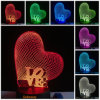 Светов ночи подарков 3D СИД дня Valentine светильник таблицы касания воздушного шара сердца роз кольца творческих романтичный для спальни