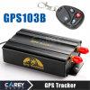 Entalhe +Shake de controle remoto Sensor+Siren do perseguidor GPS103b SD do GPS do veículo da faixa do quadrilátero