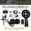 MEDIADOS DE kit eléctrico inestable de la bicicleta del motor BBS-02 de 48volt 750watt 8fun Bafang con la batería de litio