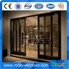 別荘のためのアルミニウムフレームのゆとりの緩和されたガラスの寝室の引き戸